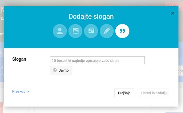 Google+ osebni profil in stran za podjetje