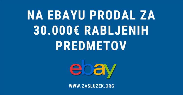 na Ebayu prodajal rabljene predmete