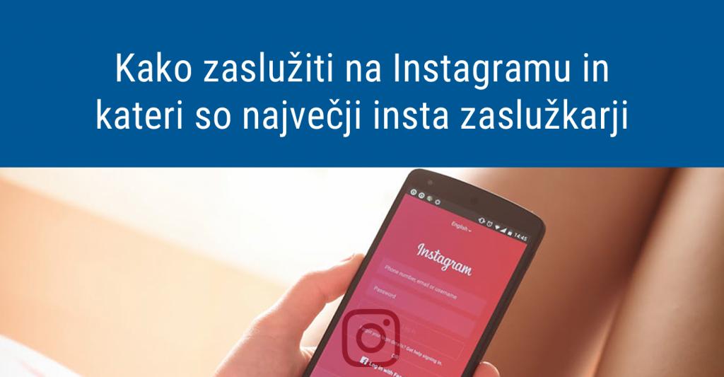 Kako zaslužiti na Instagramu