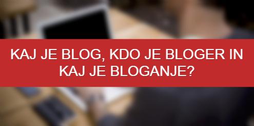Kaj je blog