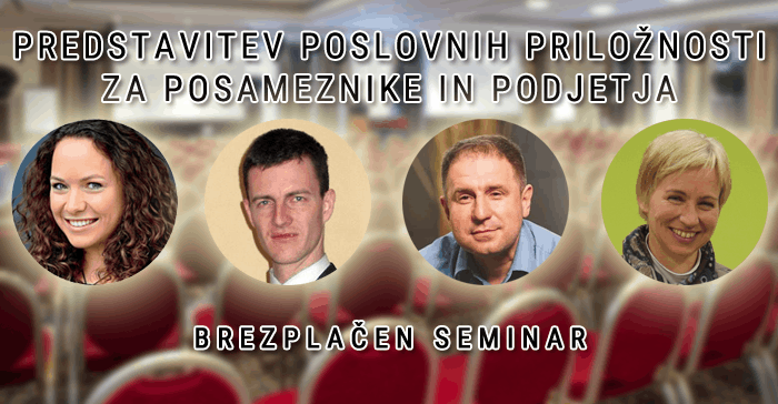Brezplačni seminar: Predstavitev poslovnih priložnosti za posameznike in podjetja