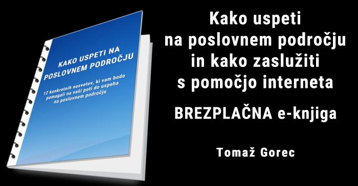 Brezplačna e knjiga: Kako uspeti na poslovnem področju in kako zaslužiti s pomočjo interneta