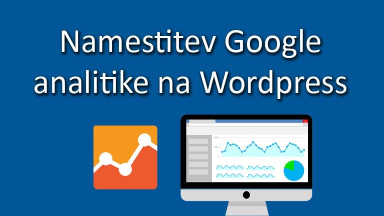namestitev google analitike na wordpress
