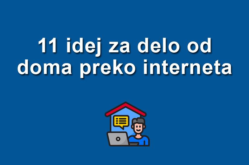 11 idej za delo od doma preko interneta